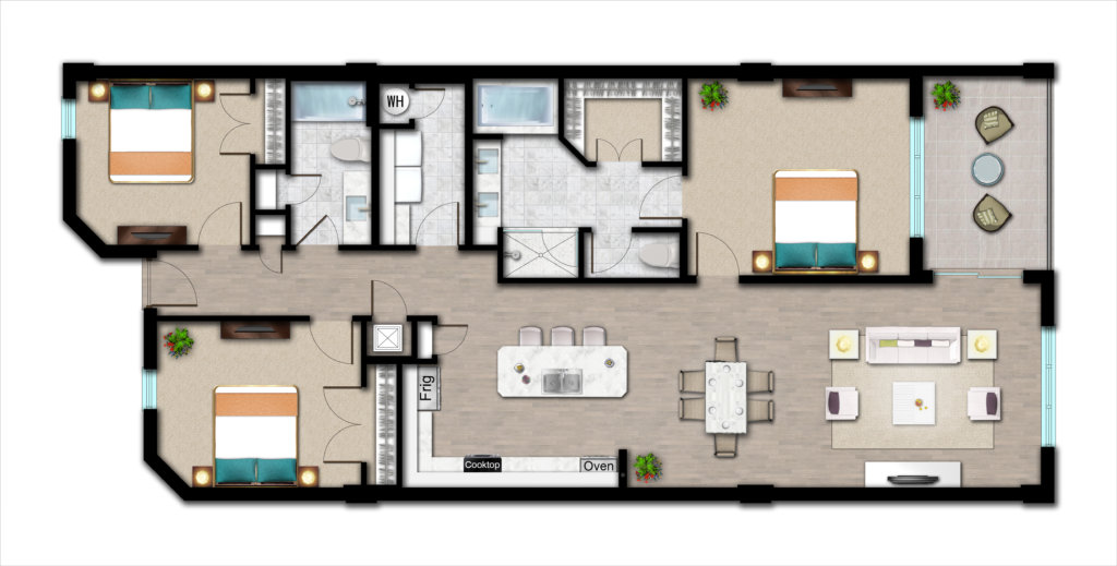 Palm Beach Condos - Floorplan F
